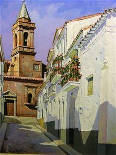 Iglesia de Galaroza (Huelva) - Comprar Arte. Venta de Arte. Galería de Arte Online