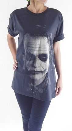 Joker TShirt  Joker Heath Ledger Batman The Dark by panoTshirt, $17.00