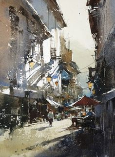 My demonstrations in Singapore Watercolor Society. Watercolor by Chien Chung Wei
