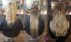 Ombre style Slavic hair extensions.