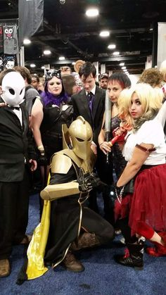[Self] Doctor Fate with a member of the Court of Owls Catwoman Penquin Fish Mooney and Harley Quinne at BCC 2015. - This is an automated post but if you want to read more Cosplay news checkout http://ift.tt/1dTOCQZ