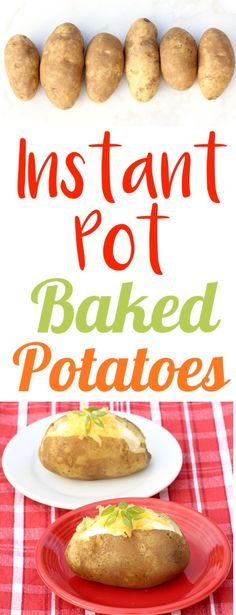Instant Pot Potatoes Baked in your Pressure Cooker are so EASY! Done fast, and … Instant Pot Potatoes Baked in your Pressure Cooker are so EASY! Done fast, and perfect every time… add them to your menu this week! Power Cooker Recipes, Pressure Cooker Recipes, Cooking Recipes, Pressure Cooking, Slow Cooker, Cooking Ideas, Power Pressure Cooker, Instant Pot Pressure Cooker, Side Dishes Easy