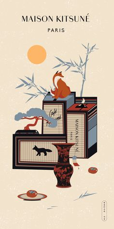 MAISON KITSUNÉ ARTWORK by Kirean  END. - 영상/모션그래픽, 일러스트레이션 -   - #artwork #IllustrationsPosters #Infographics #kirean #kitsune #maison #MoviePosters #영상모션그래픽 #일러스트레이션