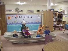 "Such a great idea. Bringing a real boat to the dramatic play area to real enhance the child's imagination when on a ""fishing"" trip."