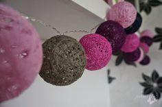 diy - cotton ball lights