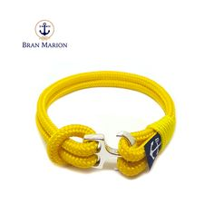 Sailors, surfers, travelers and especially YOU! Fix your style with Bran Marion Nautical Bracelets! This is a handsome, handmade string bracelet with anchor c Nautical Bracelet, Nautical Jewelry, Marine Rope, Blue And White, Yellow, Everyday Look, Anklet, Handmade Bracelets, Jewelry Collection