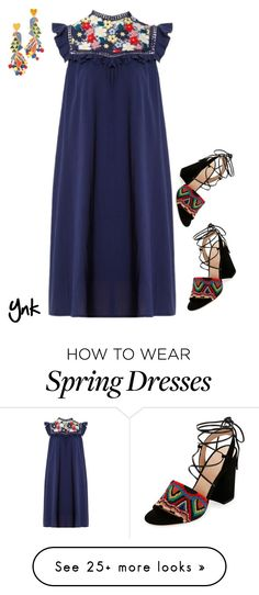 """""""Spring dress"""" by ynk24 on Polyvore featuring Sea, New York, Valentino and Tory Burch"""