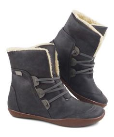 YASIRUN Gray Furry-Lined Outdoor Ankle Boot - Women   Best Price and Reviews   Zulily Cold Weather Boots, Amazing Women, Ankle Boots, Gray, Outdoor, Accessories, Shoes, Simple, Products
