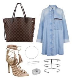 """""""I GOT IT"""" by ll2amlllostllinllyoull ❤ liked on Polyvore featuring Louis Vuitton, Office, MM6 Maison Margiela, Jennifer Fisher, Sterling Essentials and Topshop"""