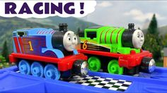 Thomas & Friends Racing Toy Train stories with Cars McQueen - Train toys...