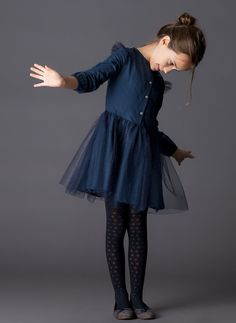 ESPAGNOL//Romany Baby Girls Double Bow Collants uniforme scolaire,