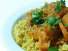 Quinoa with Moroccan winter squash and carrot stew #recipe #vegan # ...