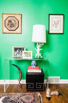 Check out that green! Style At Home: Meredith Miller's Bright Abode   theglitterguide.com