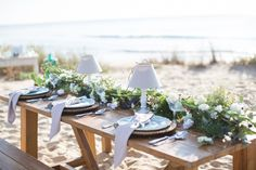 Beach wedding tablescape ideas www.MadamPaloozaEmporium.com www.facebook.com/MadamPalooza