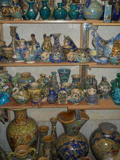 Persian pottery in Tehran, Iran