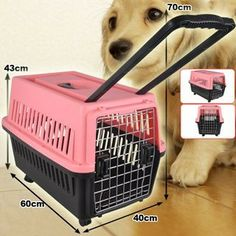 2014 Model 60cm Wheeled Pet Dog Cat Carrier With Handle