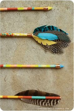 vintage inspired arrows by Danielle from Thompson Family Life. –  via Modern Kiddo