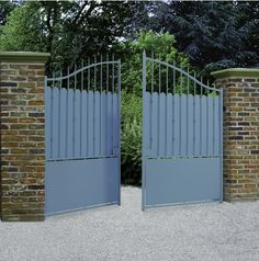 Portail, portillon, clôture acier - Excalibur - ROY Metal Gates, Iron Gates, Driveway Gate, Fence Gate, Gate Designs Modern, Modern Design, Excalibur, Brande, Entrance Gates