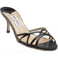 Jimmy Choo Ivana Slide Sandals Black