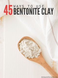 40 uses for bentonite clay. From bites to stomach bugs to toothpaste, we use bentonite clay for almost everything and it always works. It's a must-have for my home remedy cabinet! Natural Home Remedies, Natural Healing, Herbal Remedies, Health Remedies, Natural Oil, Natural Beauty, Holistic Healing, Indian Healing Clay, Natural Detox