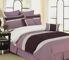 With Love Home Decor - 12pc Bed-in-a-Bag Wly Plum-Includes 600TC Sheet Set!, $146.99
