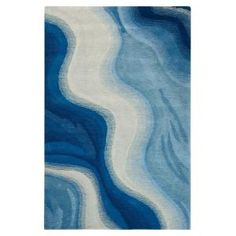 Home Decorators Collection Rush Blue 7 ft. 6 in. x 9 ft. 6 in. Area Rug-3248425310 - The Home Depot