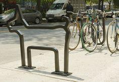 David Byrne designed bike rack from 25 Awesome and Unusual Bike racks