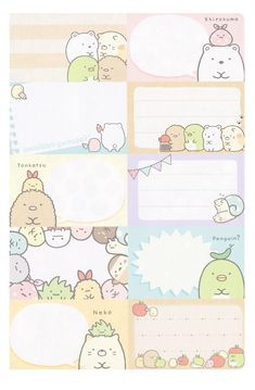 San-X Sumikko Gurashi 2016 Diary (Large) Notebook Paper Printable, Free Printable Stationery, Printable Scrapbook Paper, Printable Stickers, Anime Stickers, Cute Stickers, Memo Notepad, Cute Stationary, Cute Kawaii Drawings