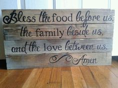 Diy home kitchen decor made from pallets Cute in the kitchen by table.Custom Wooden Sign by HeartShot on Etsy - Could totally make this Do It Yourself Inspiration, Custom Wooden Signs, Do It Yourself Furniture, Before Us, My New Room, Home Design, Design Ideas, Home Projects, Wood Crafts