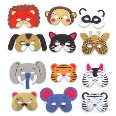 Foam Animal Masks (Bulk Pack of 12 Masks) at theBIGzoo.com, a family-owned store. Check our sales