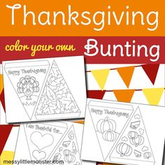 free printable bunting template to make thanksgiving paper bunting. Thanksgiving Placemats, Thanksgiving Treats, Bunting Template, Bunting Design, Paper Bunting, Mouse Crafts, Christmas Poems, Shape Crafts, The Night Before Christmas
