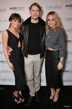 Lea Michele, Chord Overstreet and Becca Tobin