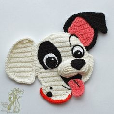 Funny Puppy Applique pattern by Elena Pichugina- Funny Puppy Applique pattern by Elena Pichugina Crochet dog applique. Knitting and crochetoing. Crochet Dog Patterns, Crochet Symbols, Applique Patterns, Amigurumi Patterns, Crochet Diy, Crochet Amigurumi, Crochet Motif, Crochet Hats, Crochet Humor