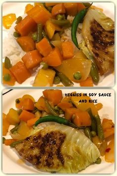 Veggies in soy sauce is a dish with a variety of different vegetable like Bell Peppers (red, green, orange, yellow or a mix of any or all), carrots, green beans (french beans), green peas, potatoes cooked together in a soy sauce, chilli sauce and tomato sauce. #vegetarisch #vegetarian #vegan #yummy #delicious #tasty #homemade #hausgemacht#lecker #vegetables #food #essen #healthy Tomato Sauce, Soy Sauce, Orange Yellow, Red Green, Different Vegetables, Green Peas, Cooking Together, Carrots, Vegan Recipes