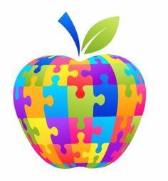 Love this Autism apple. Autism Teaching, Teaching Special Education, Teaching Tools, Classroom Behavior, Autism Classroom, Apple Clip Art, Apple Art, Montessori, Behavior Interventions