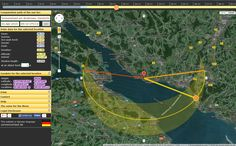 Application for determining the course of the sun at a desired time and place with interactive map.
