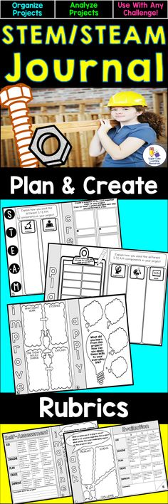 Help your students organize, analyze, and reflect on their STEM/STEAM projects with these booklets. Use with any challenge! Grades 3-6.