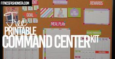 Free Printable Fitness Command Center Kit - Fitness Fashionista