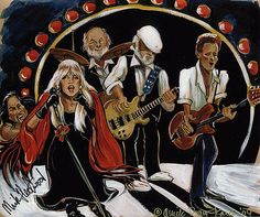Fleetwood Mac Painting by Karen Fulk