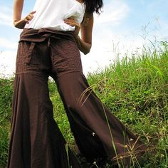 flowing pants--nice for doing yoga or giving thai massage!