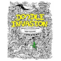 Adult Coloring Books Doodle Invasion Big Size Art Paint Book Relax Meditation US
