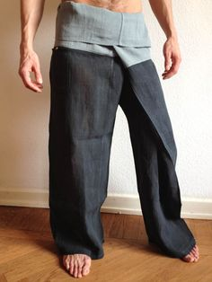Light Blue Raw Cotton Thai Fisherman Pants - For more information about #Bindidesigns products, please visit: BindiDesigns.eu
