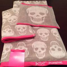 betsey johnson skull towel - Google Search