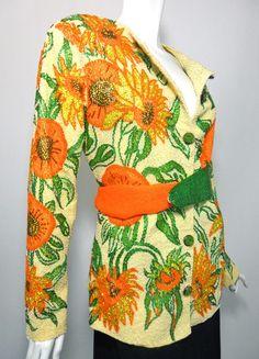 Van Gogh inspired sequined 1960s jacket