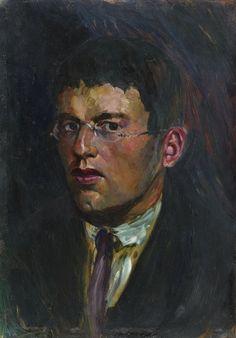 Rudolf Schlichter (Allemagne, 1890-1955) – Selbstbildnis (1912-1915)