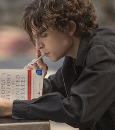 Timothee Chalamet/ cigarette | Lady Bird