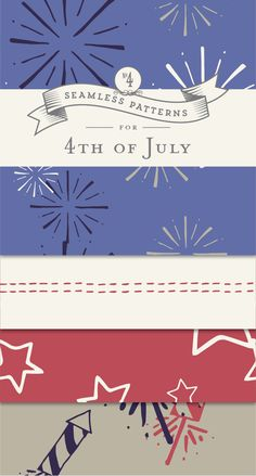 Fire up the barbecue, prep the fireworks, and get ready to celebrate 4th of July! Download these patriotic patterns, and create rad Independence Day art.