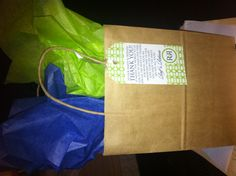 """Navy and Lime Green Wedding Welcome Bags (filled with personalized water bottles, Oreos, Pringles, Peanuts, Lindt Chocolates, a First Aid Kit, and a """"Do Not Disturb"""" Sign)"""