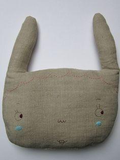 rabbit pillow by pinselblues, via Flickr