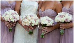#bridesmaids#lilac#dresses#bouquet#pale#colors